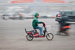 Motor scooter in Beijing Stock Image