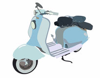 Motor scooter doodle Stock Image