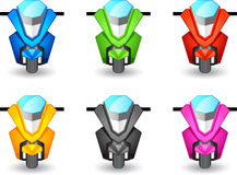 Motor scooter icon Royalty Free Stock Photography