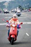 Motor Scooter At Rolling Thunder, Washington, DC Royalty Free Stock Photography