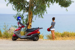 Motor scooter travel Stock Photography