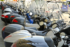 Motor scooters, Florence, Italy Stock Image