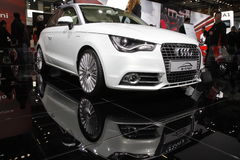 Audi A1 in Bologna Motor Show Royalty Free Stock Images