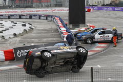 FBI car stunts on Bologna Motor Show Stock Photography