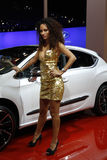 Motor show girl Royalty Free Stock Images