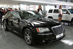 Motor show. KIEV - SEPTEMBER 7: Chrysler 300C at yearly automotive-show Capital auto show 2012. September 7, 2012 in Kiev, Ukraine Royalty Free Stock Photos