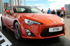 Motor show. KIEV - SEPTEMBER 7: Toyota GT 86 at yearly automotive-show Capital auto show 2012. September 7, 2012 in Kiev, Ukraine Royalty Free Stock Images