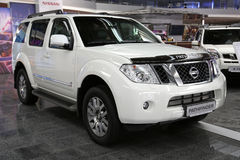 Motor show. KIEV - SEPTEMBER 7: Nissan Pathfinder at yearly automotive-show Capital auto show 2012. September 7, 2012 in Kiev, Ukraine Royalty Free Stock Photography