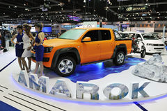 Motor Show in Bangkok. A view from the VW booth as models present the VW Amarok at the Thailand International Motor Expo on Dececmber 7, 2012 in Bangkok Stock Images
