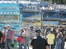 Motor Shows. Big Truck festival in Finland in June, city of Porvoo royalty free stock photo