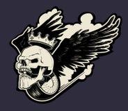 Motor skull logo Royalty Free Stock Photos