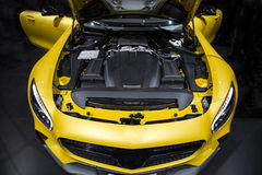 Motor of sport car Stock Images