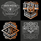 Motor sport emblem t-shirt graphics Royalty Free Stock Images