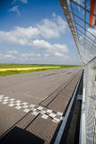 Motor sport finish line Royalty Free Stock Photography