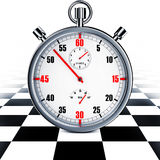 Motor sport. High resolution rendering of a stop watch Stock Images
