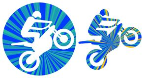 Motor sports. Illustrated line art work vector illustration