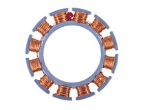 Motor stator. Single phase induction motor open showing windings and coils Stock Images