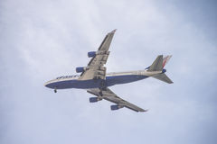 4 motor straalvliegtuigen Royalty-vrije Stock Foto