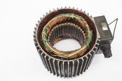 Motor structure. Motor Generator coil royalty free stock image