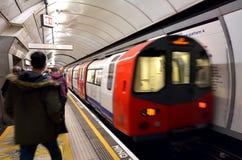 Motor subterráneo del tren de Londres Foto de archivo