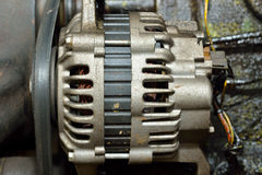 Motor sujo velho do motor Imagem de Stock