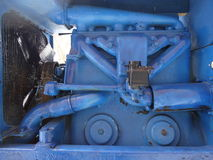 Motor tractor. Tractor motor of the fan and a plurality of pipes Royalty Free Stock Photography