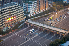 Motor traffic on Southern Guangzhou Road Royalty Free Stock Photo