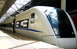 Motor Train Unit. The fatest train in Shanghai,China Royalty Free Stock Photography