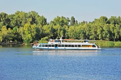 Motor travel river ship Stock Image