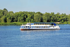 Motor travel river ship Stock Photos