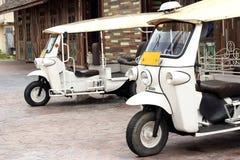 Motor- tricycle ( tuk tuk). Famous  motor- tricycle ( tuk tuk) in Thailand Royalty Free Stock Image