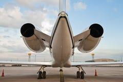 Motor twee van vliegtuig Stock Foto's