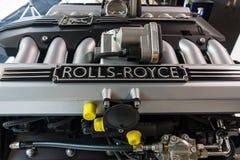 Motor V12 DOHC (BMW N73) av Rollset Royce Royaltyfri Fotografi