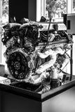 Motor V12 DOHC (BMW N73) av Rollset Royce Royaltyfria Foton