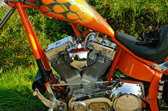 motor V-gêmeo da motocicleta Imagem de Stock