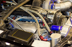 Motor van een auto Stock Afbeeldingen