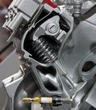 Motor van een auto besnoeiing-door mening Royalty-vrije Stock Foto