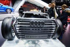 Motor van een auto, Motorshow Geneve 2015 Stock Afbeelding