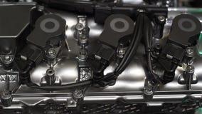 Motor van een auto nieuwe technologie stock video