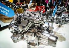 Motor van een auto op vertoning Royalty-vrije Stock Fotografie