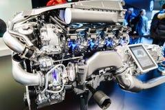 Motor van een auto op vertoning Royalty-vrije Stock Foto's