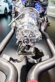 Motor van een auto op vertoning, Motorshow Geneve 2015 Stock Afbeelding