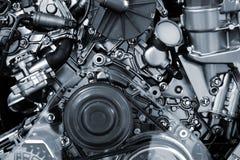 Motor van een autoachtergrond Stock Afbeeldingen
