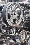 Motor van een autodetail stock afbeeldingen