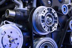 Motor van een autodetail stock foto