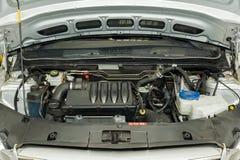 Motor van een autodetails Royalty-vrije Stock Foto