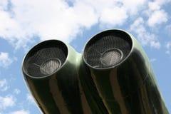 Motor van een B-52 bommenwerpersvliegtuig stock afbeeldingen