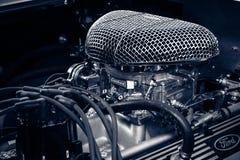 Motor van een Cobra 427, 1966 van open tweepersoonsautoshelby AC Royalty-vrije Stock Foto's