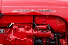 Motor van een Diesel van tractorporsche Type 216, 1961 Stock Afbeeldingen