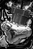 Motor van een sportenmotorfiets Norton Commando 961 Koffieraceauto Stock Afbeelding
